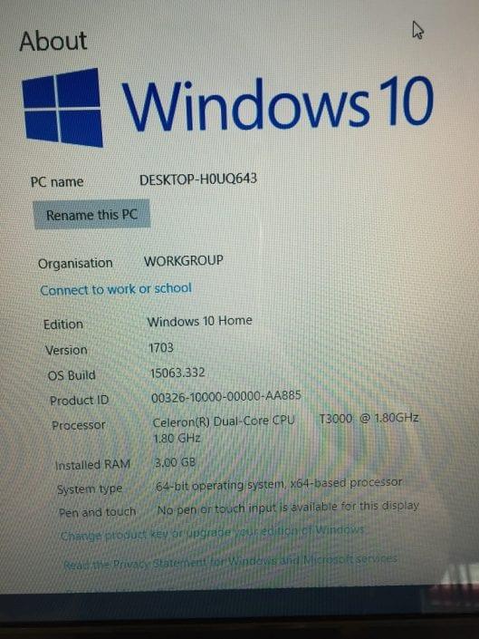 Acer Aspire 5332 Spec Sheet