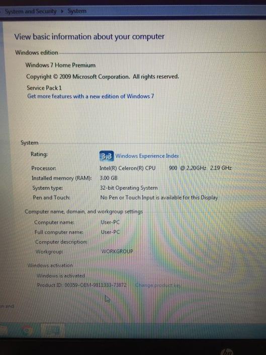 HP G56 Spec